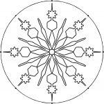 Circle Snowflake Coloring Page