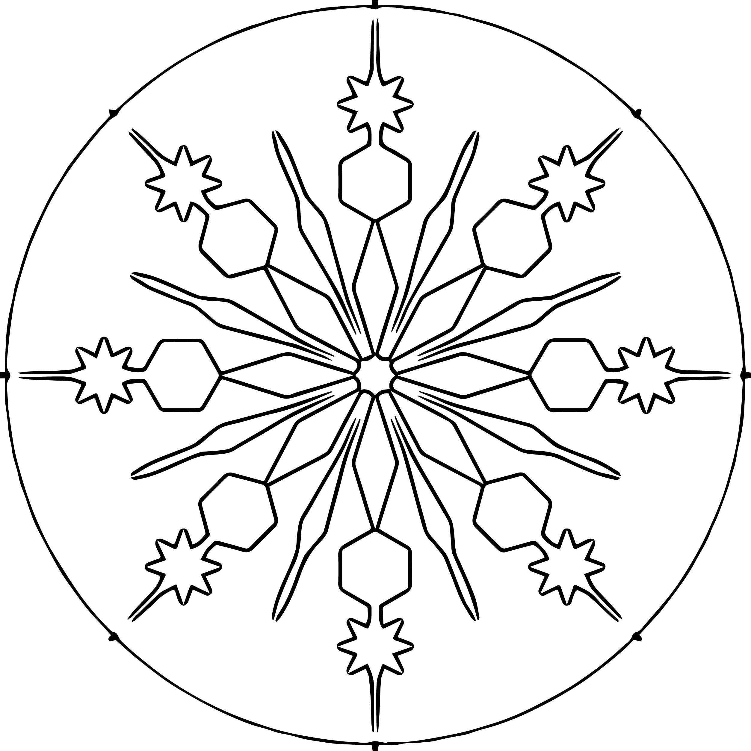 Circle Snowflake Coloring Page | Wecoloringpage