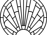 Circle Stained Coloring Page