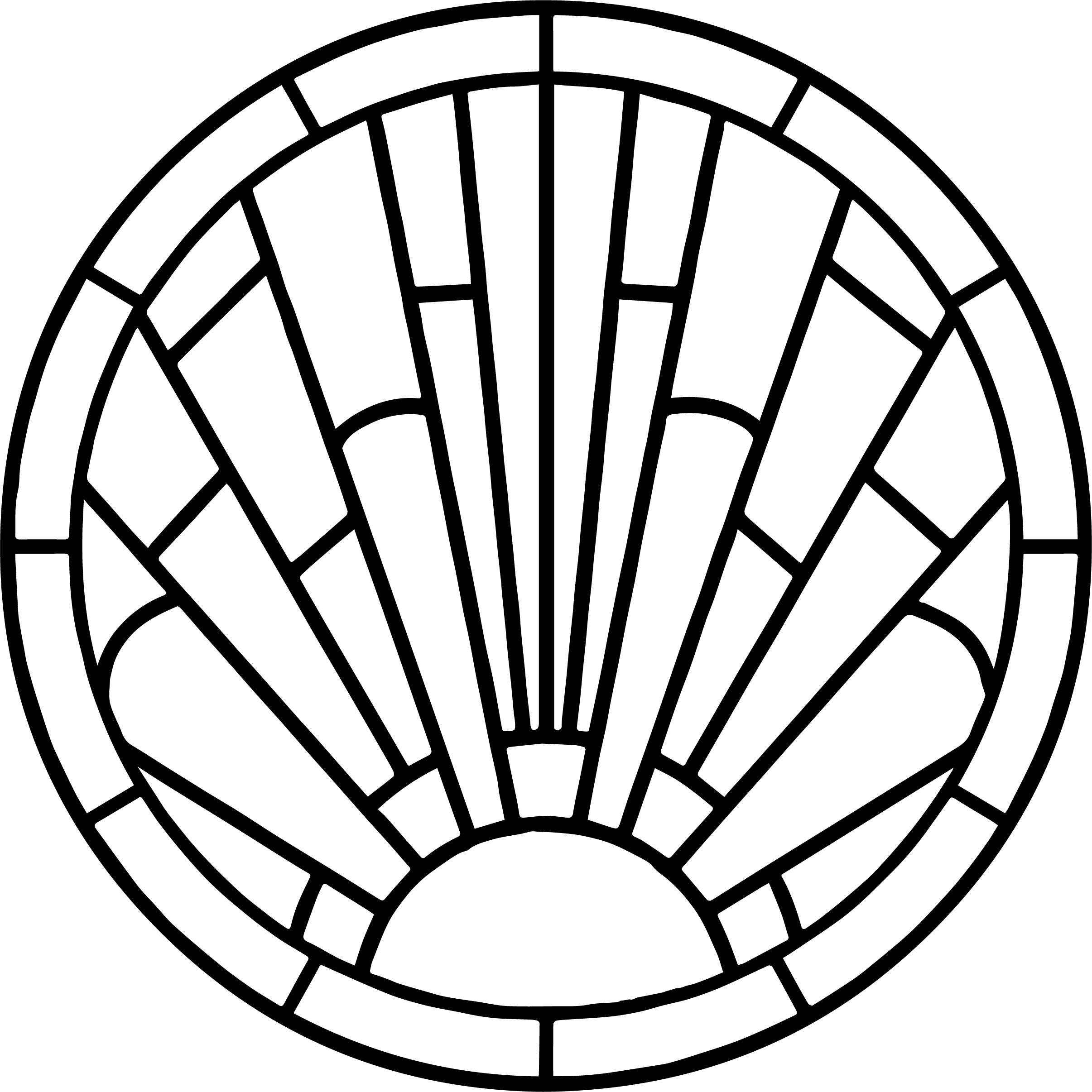 Circle stained coloring page for Circle coloring page