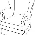 Classic Armchair English Coloring Page