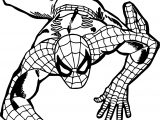 Climb Spider Man Coloring Page