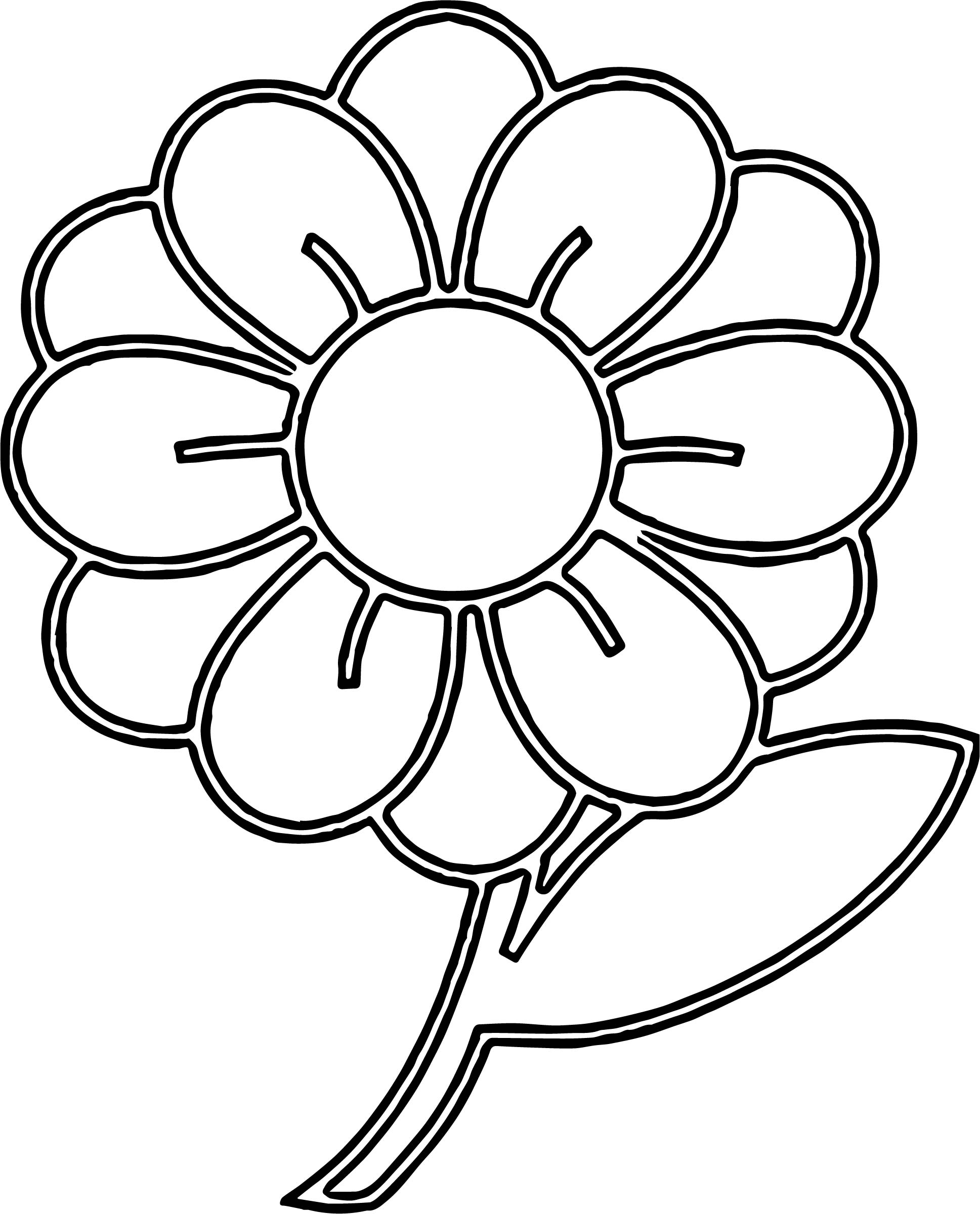 Clipart Flower With Stem Illustration Of A Flower With ...