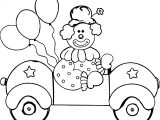 Clown Car Coloring Page