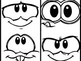 Club Penguin Box Face Coloring Page