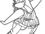 Club Penguin Fight Coloring Page