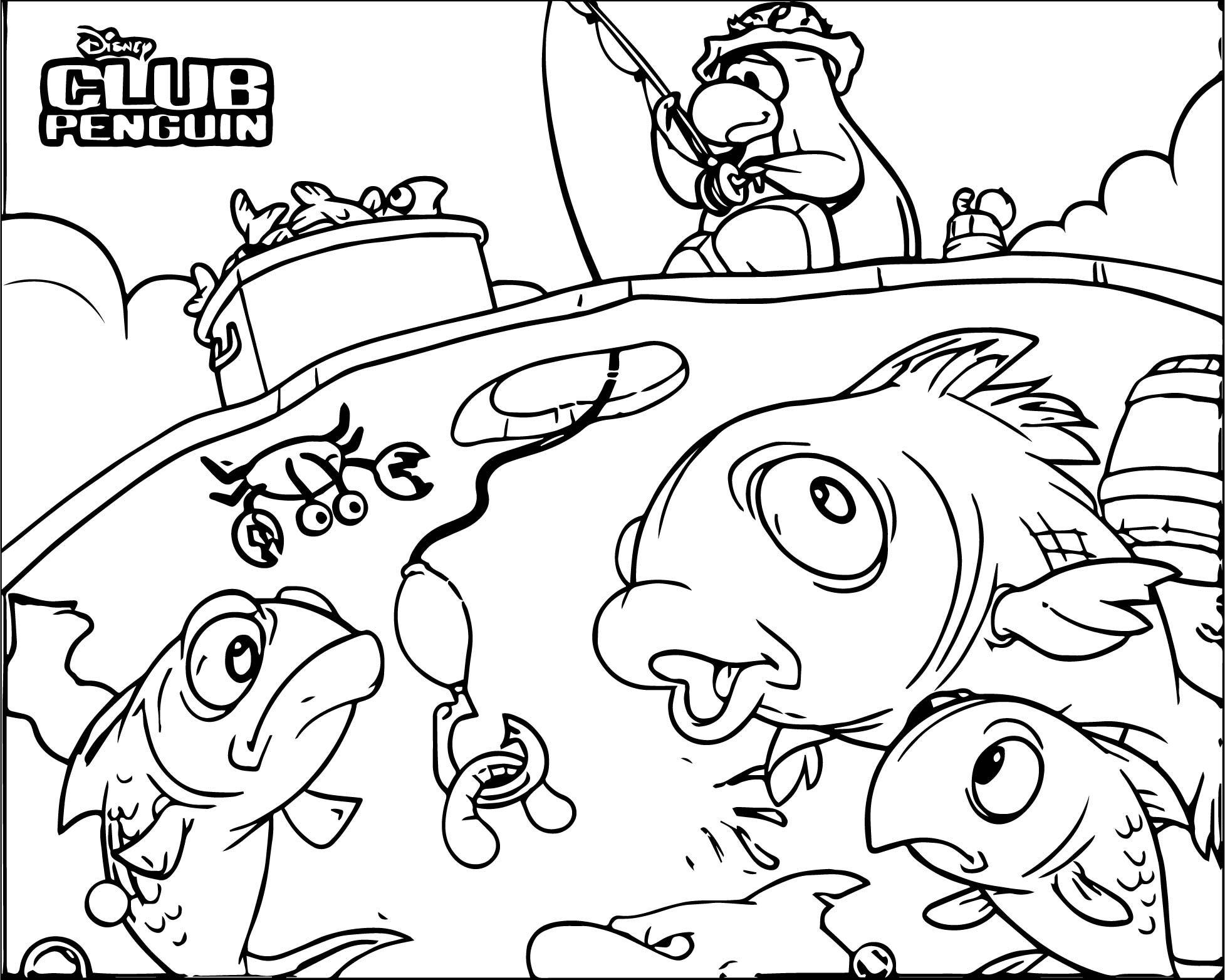 Club Penguin Mermaid Coloring Pages