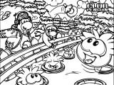 Club Penguin Picture Coloring Page