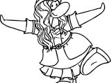 Club Penguin Pose Coloring Page