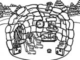 Club Penguin Room Coloring Page