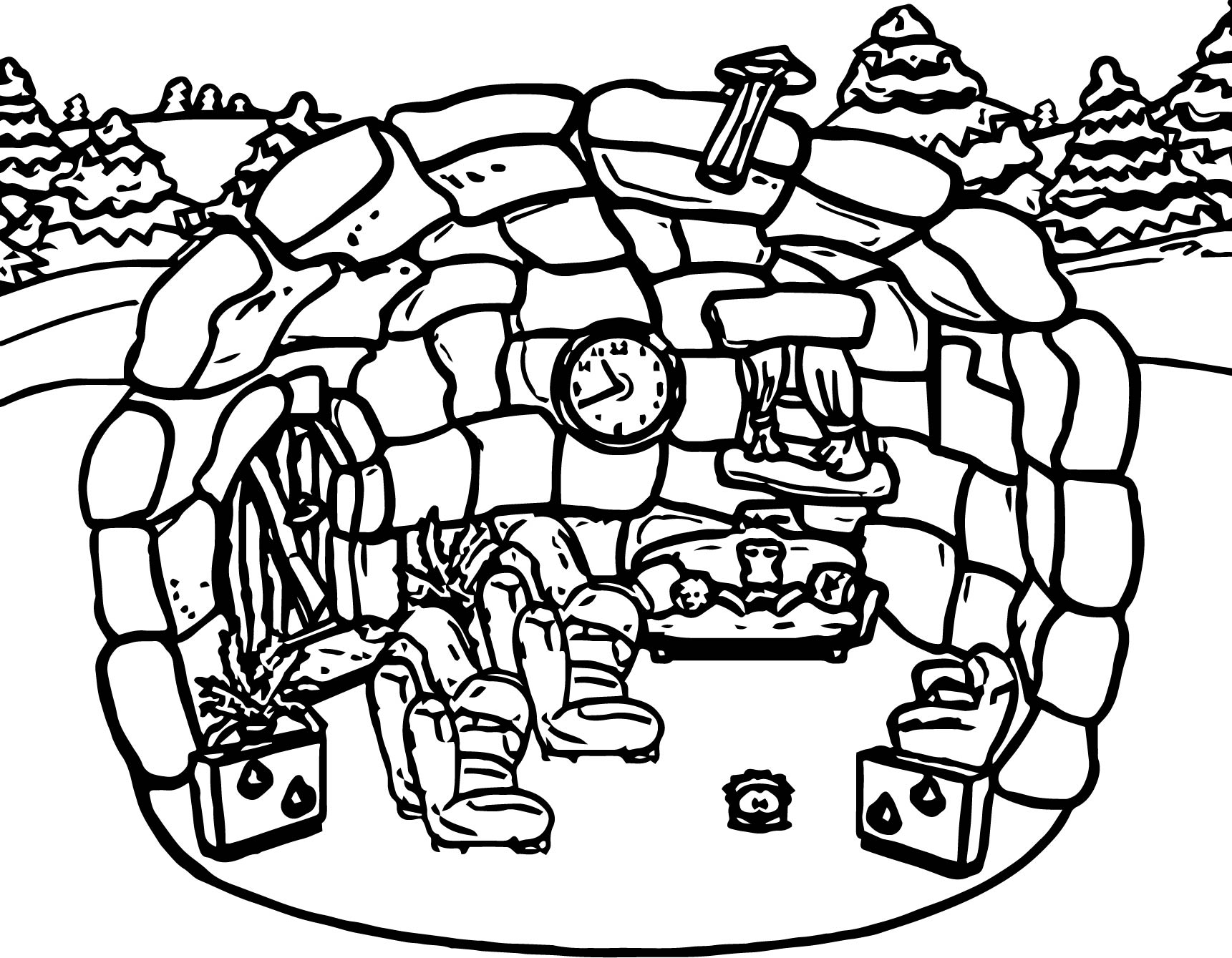 Club penguin room coloring page for Club penguin coloring page