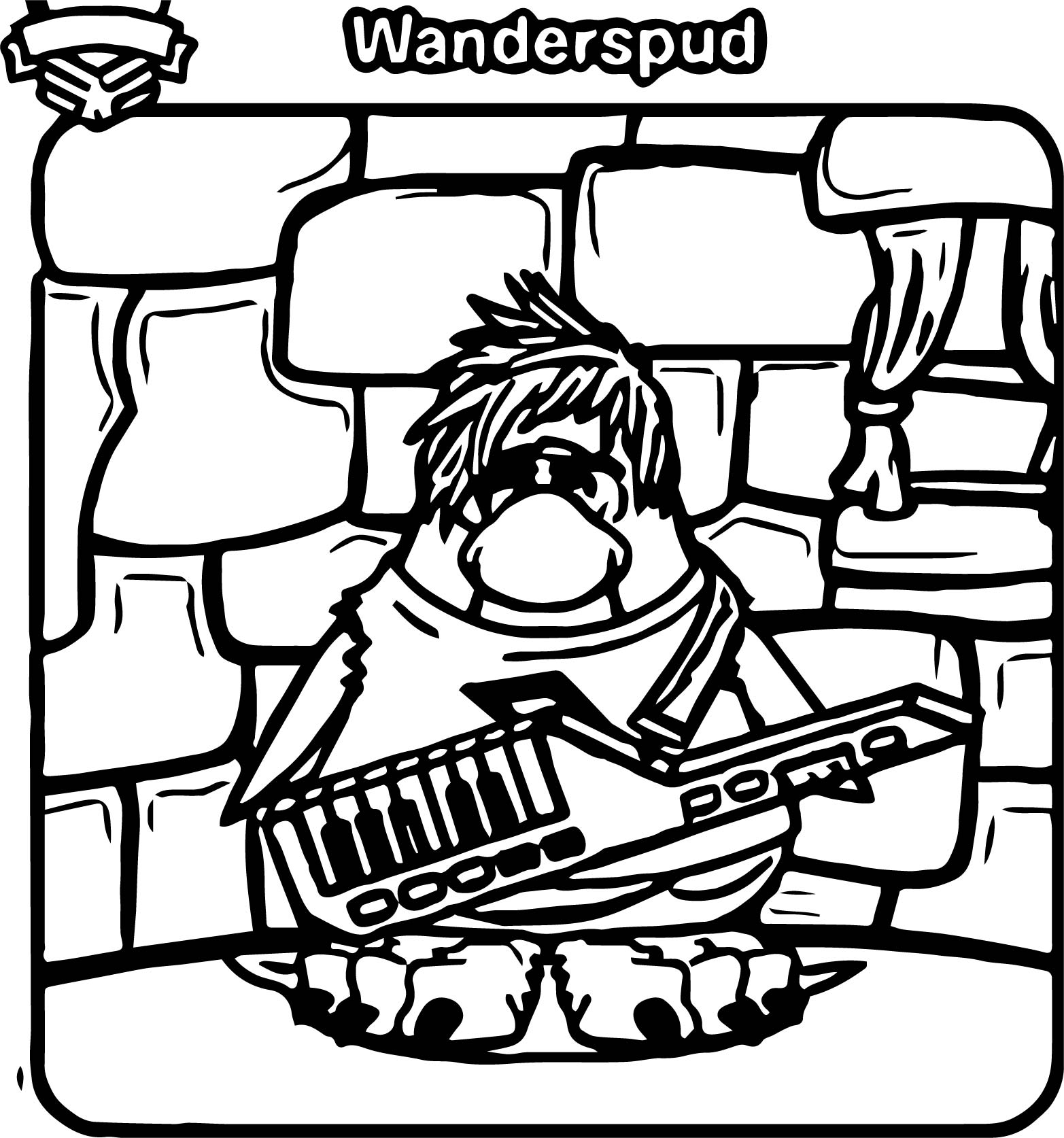 Club Penguin Wanderspud Coloring Page