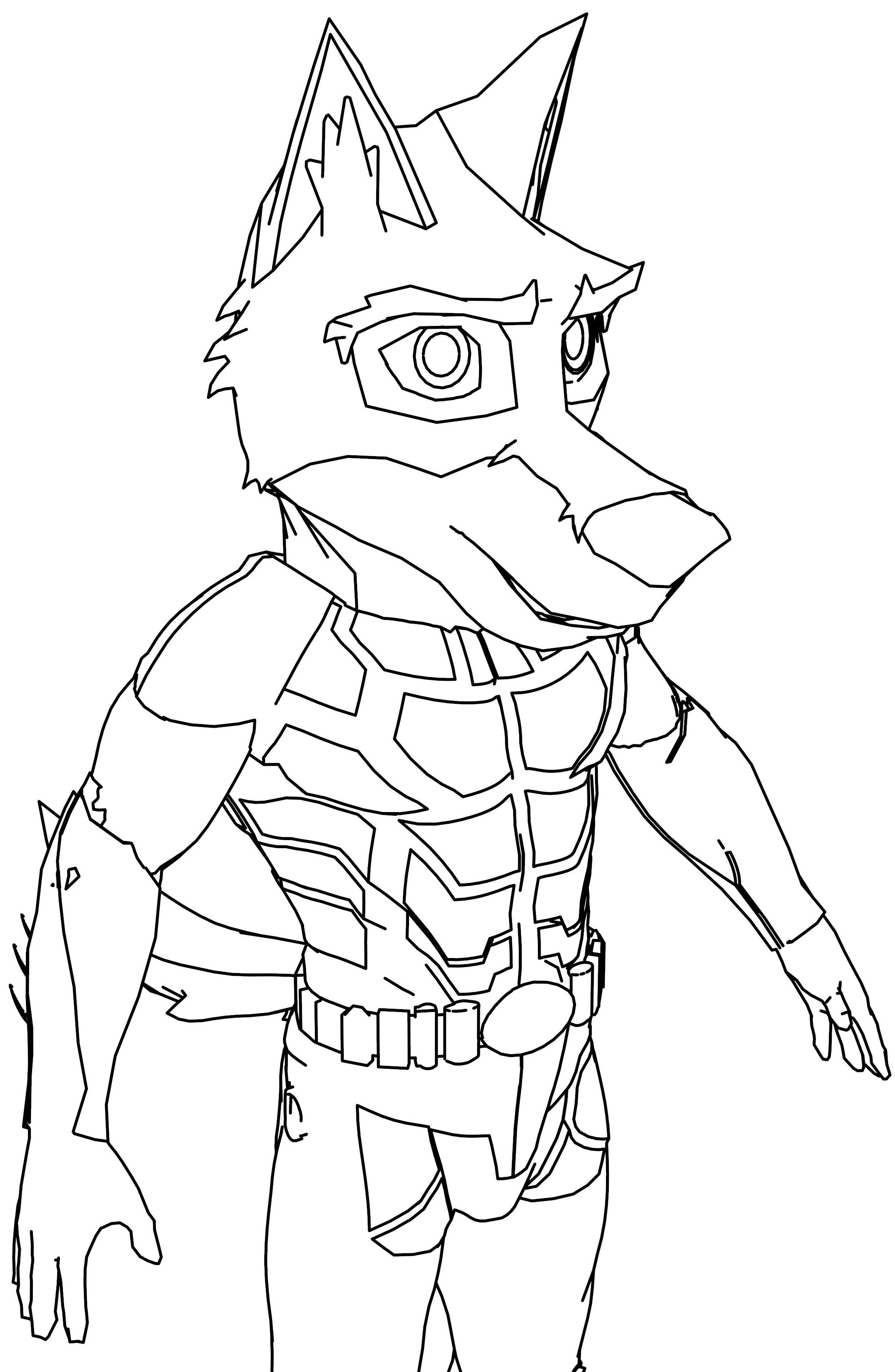 Coyote Furry Coloring Page Wecoloringpage