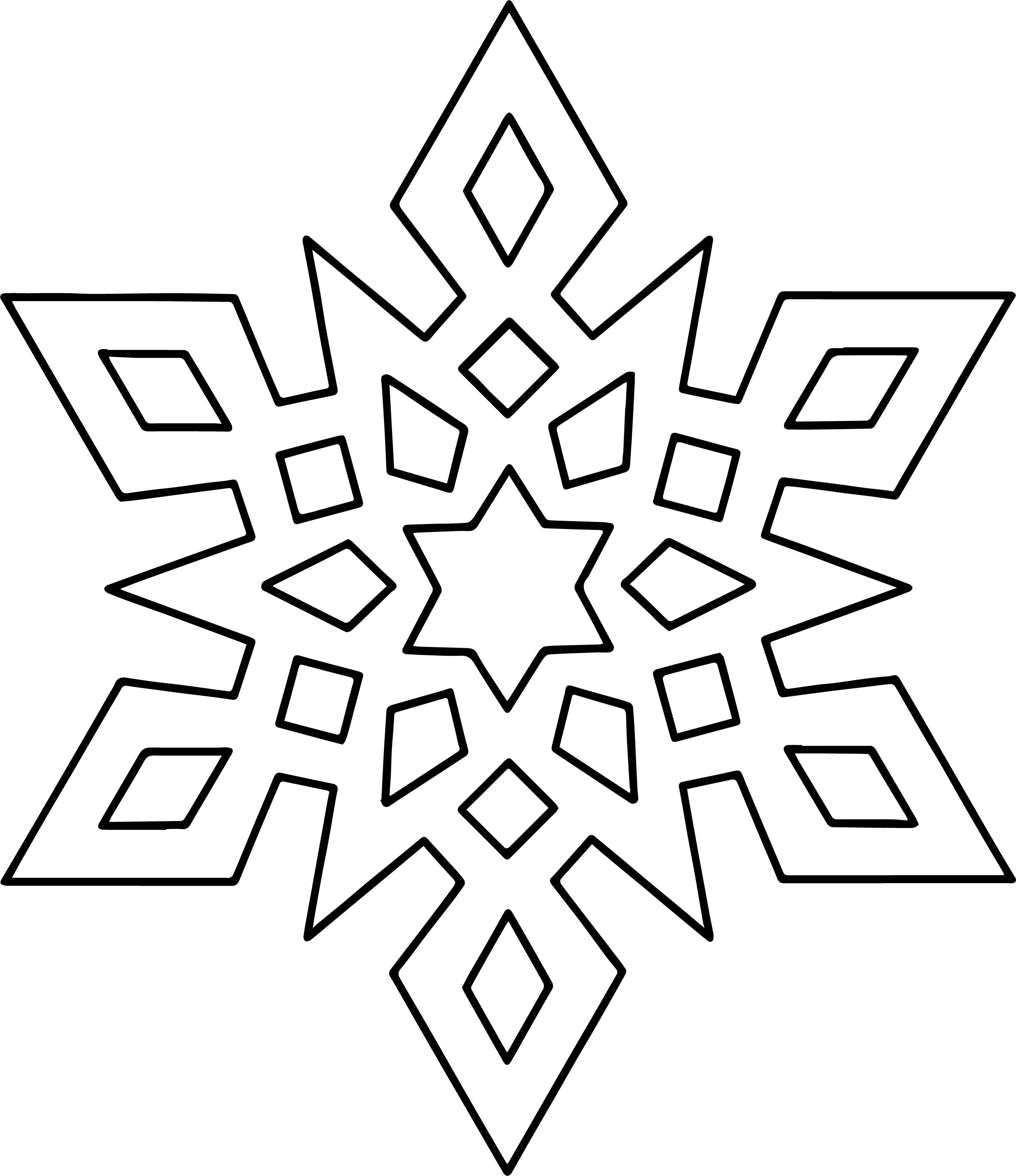 Crystal Snowflake Coloring Page | Wecoloringpage