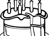 Cut Birthday Cake Coloring Page