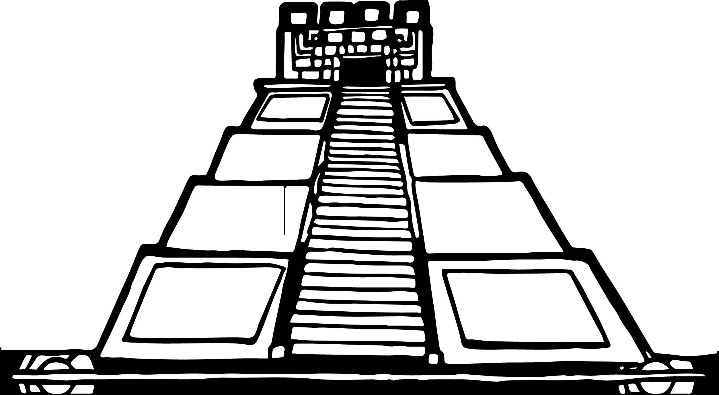 Cutcaster Photo Mayan Pyramid Coloring Page