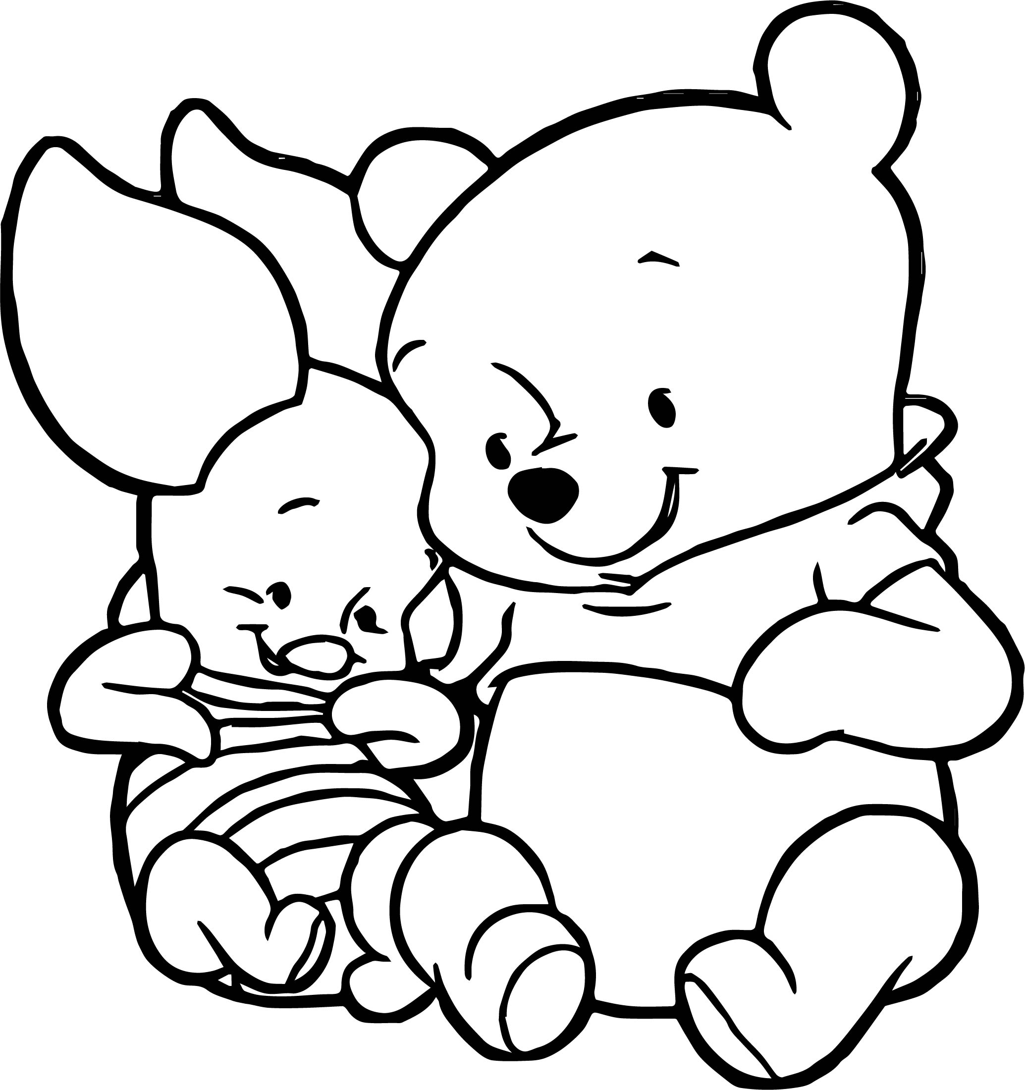 Cute baby piglet winnie the pooh coloring page for Pooh and piglet coloring pages