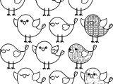 Cute Birds Coloring Page