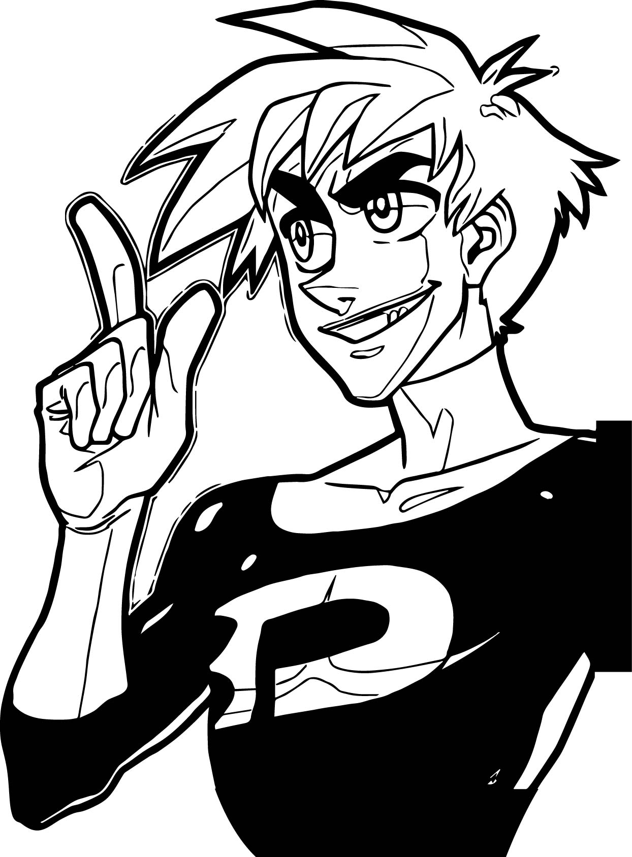 Danny Phantom One Coloring Page Wecoloringpage Com