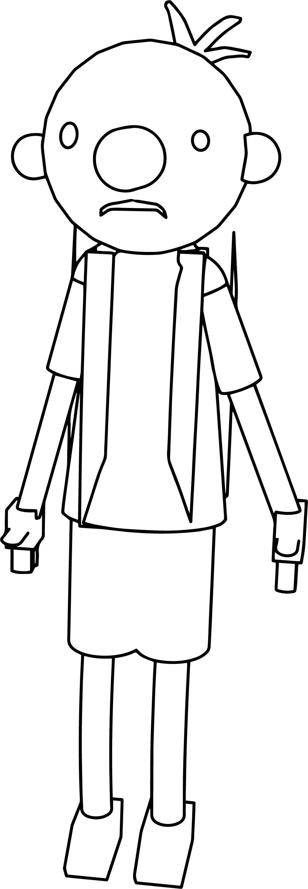 Diary Of A Wimpy Kid Greg Heffley Coloring Page | Wecoloringpage.com