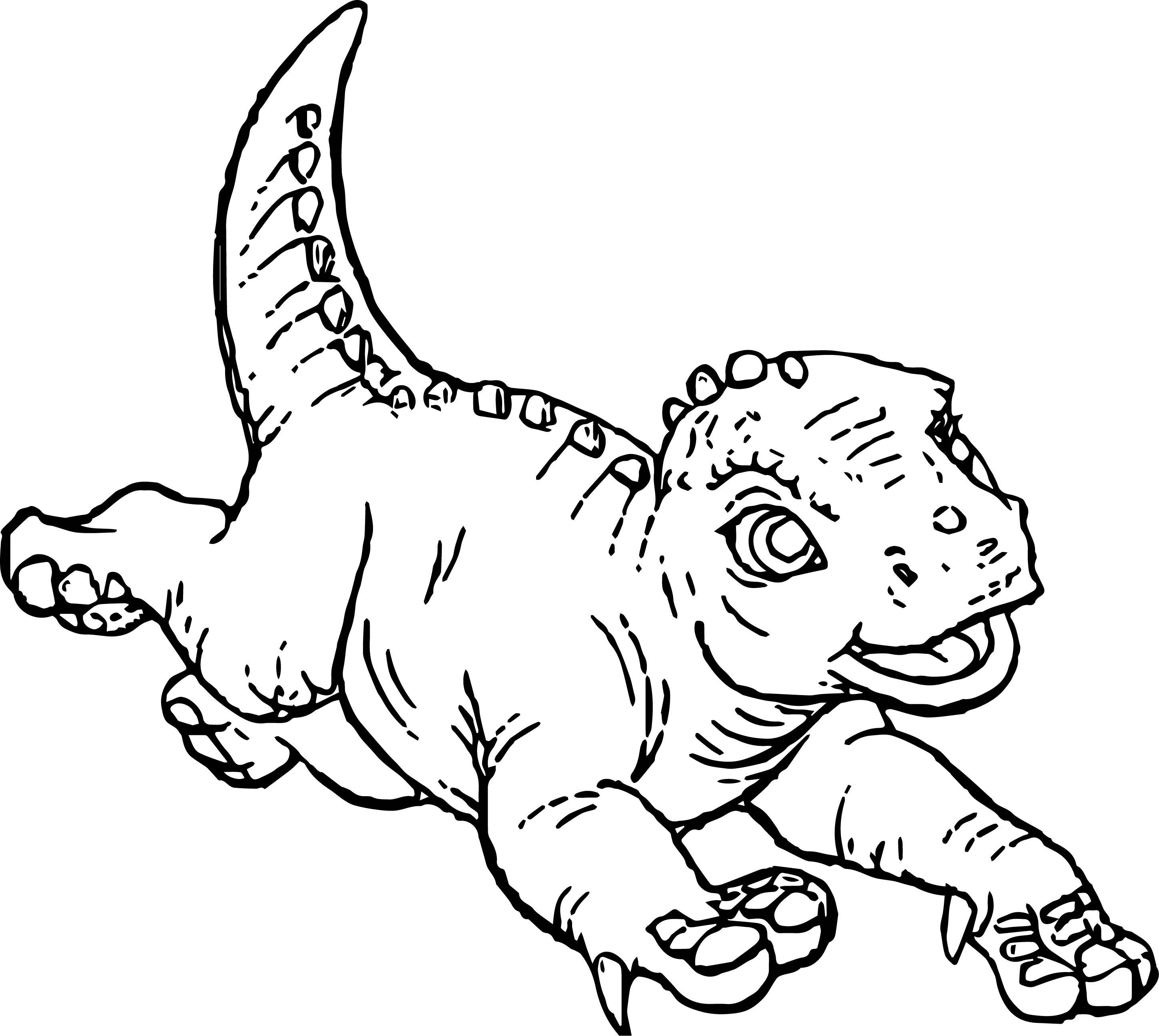 Disney Alad Dinosaur Coloring Page | Wecoloringpage.com