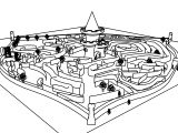 Disney Alice In Wonderland Queen Of Heart Castle And Maze Coloring Page