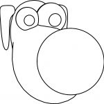 Dog Face Coloring Pages