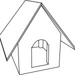 Dog House Cartoon Coloring Page
