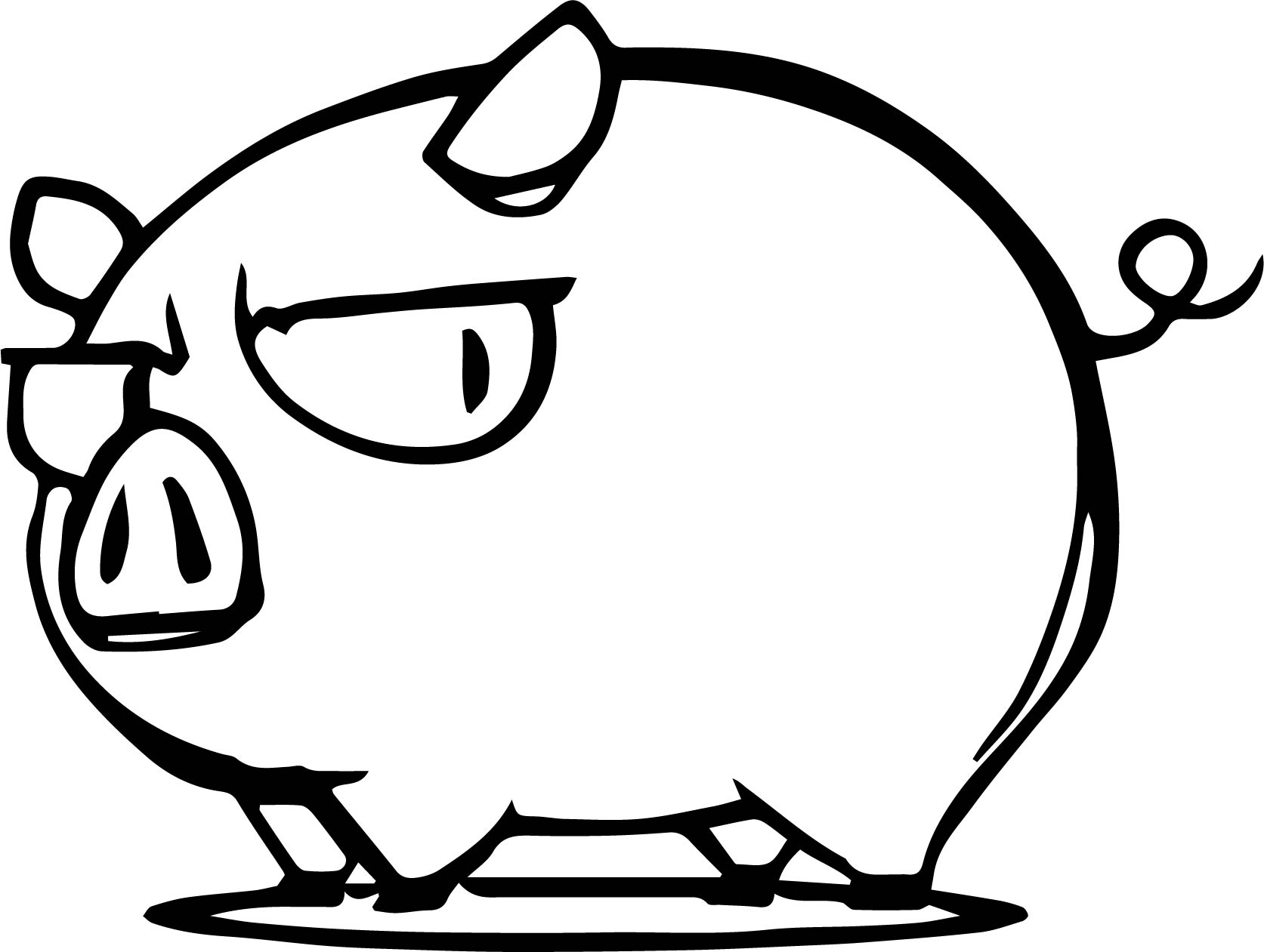 Dont Mess With The Pig Funny Coloring Page