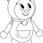 Dorami Cute Japan Character Coloring Page