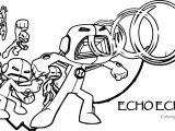 Echo Echo Ben 10 Alien Force Coloring Page