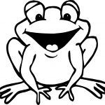 Excited Frog Coloring Page