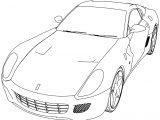Ferrari 488 GTB Sport Car Coloring Page