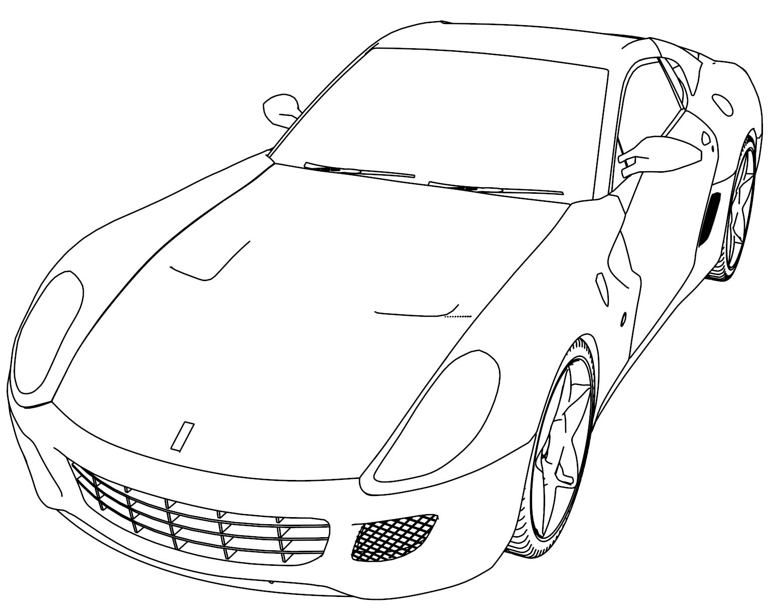 100 Sport Cars Coloring Pages Coloring
