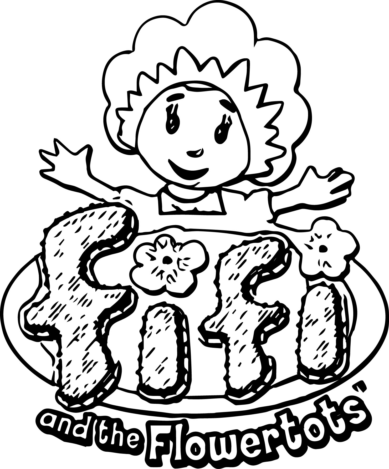 Fifi And The Flowertots Coloring Page