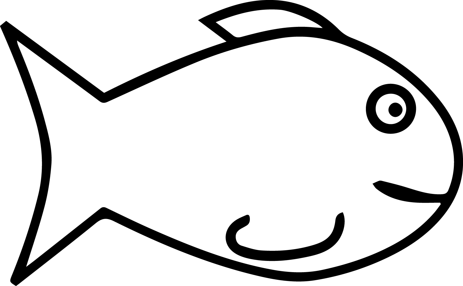 Fine cartoon fish coloring page sheet for Free coloring fish pages