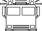 Fire Truck Front Box Coloring Page