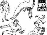Five Character Ben10 Benten Coloring Page