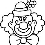 Flower Clown Face Coloring Page