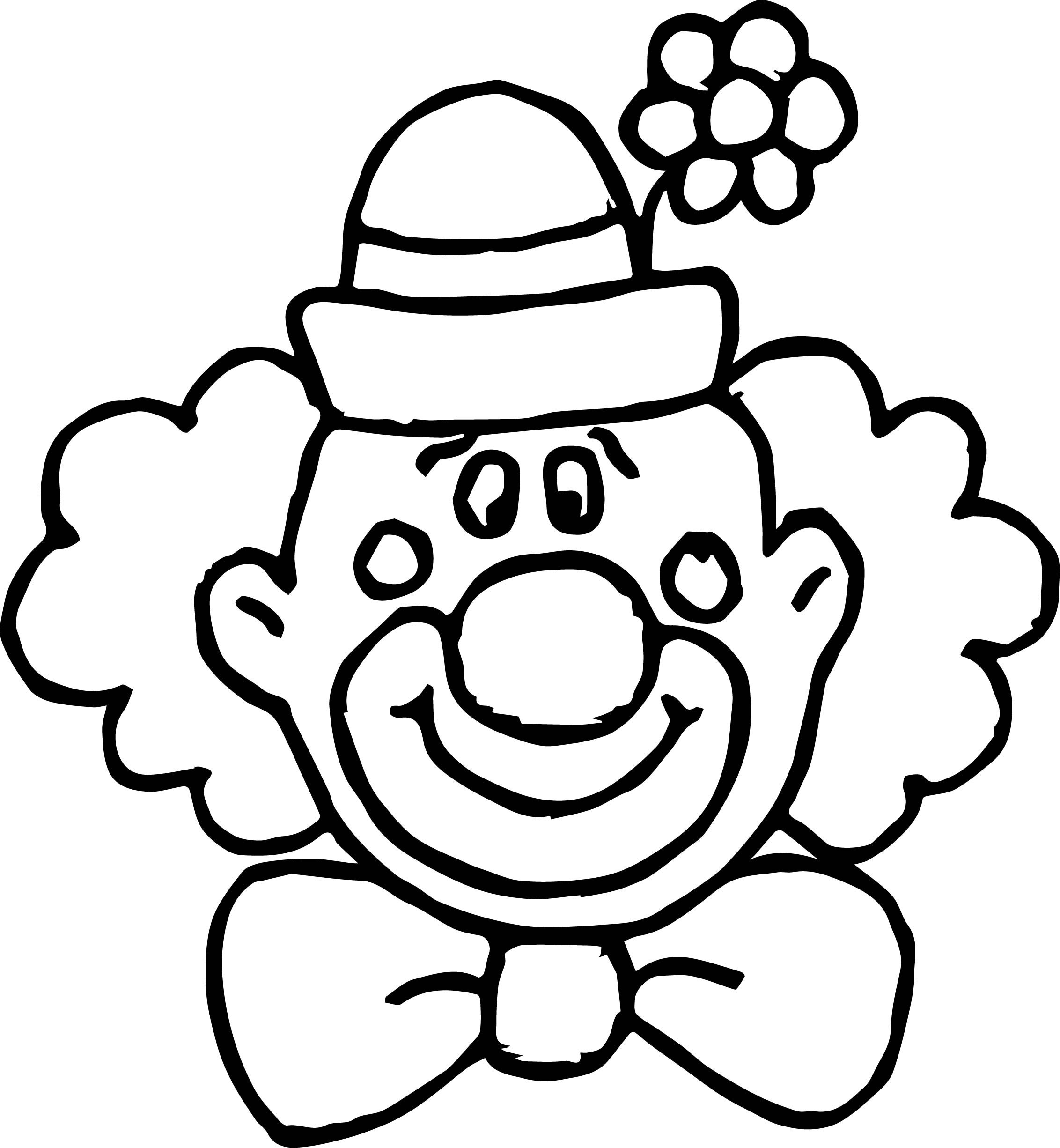 Flower Clown Face Coloring Page Wecoloringpage