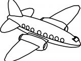 Fly Cartoon Plane Coloring Page