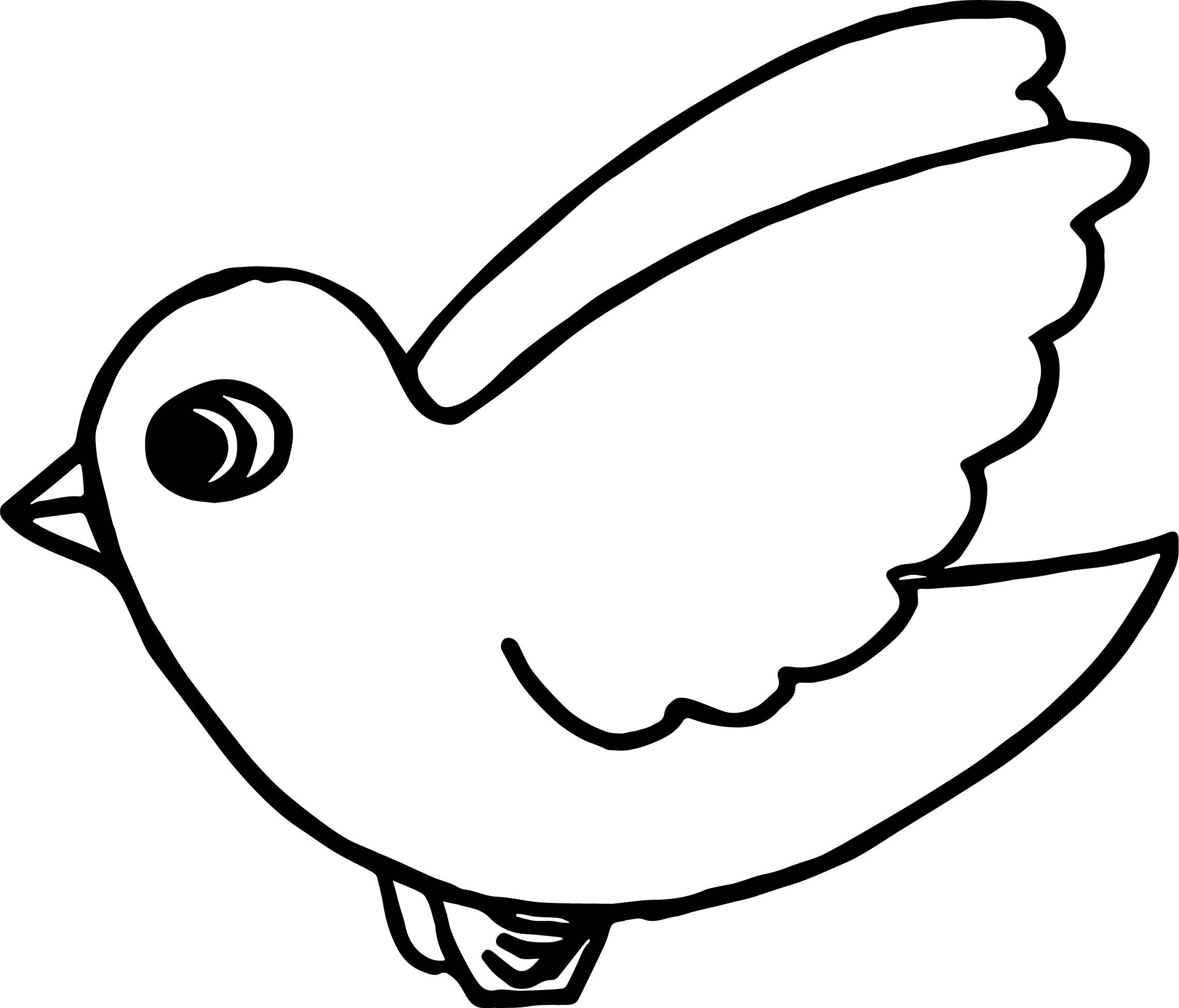Flying bird coloring page for Coloring page of a bird