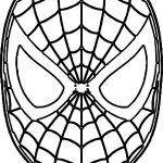 Free Spider Man Mask Face Coloring Page