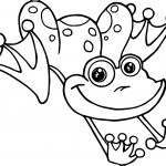 Frog Jumping Coloring Page