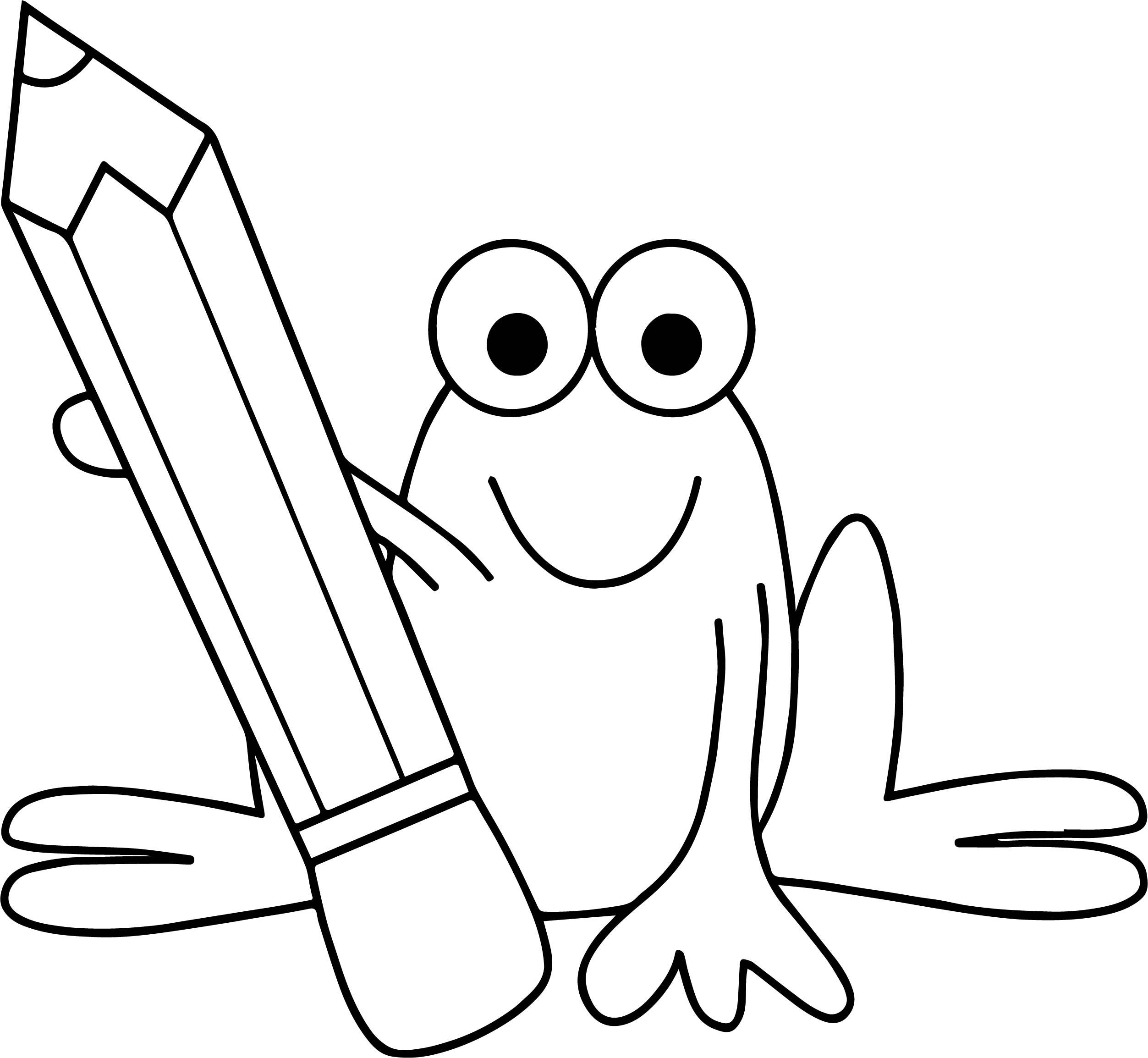 frog pencil coloring page - Pencil Coloring Page