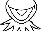 Frog Smile Face Coloring Page
