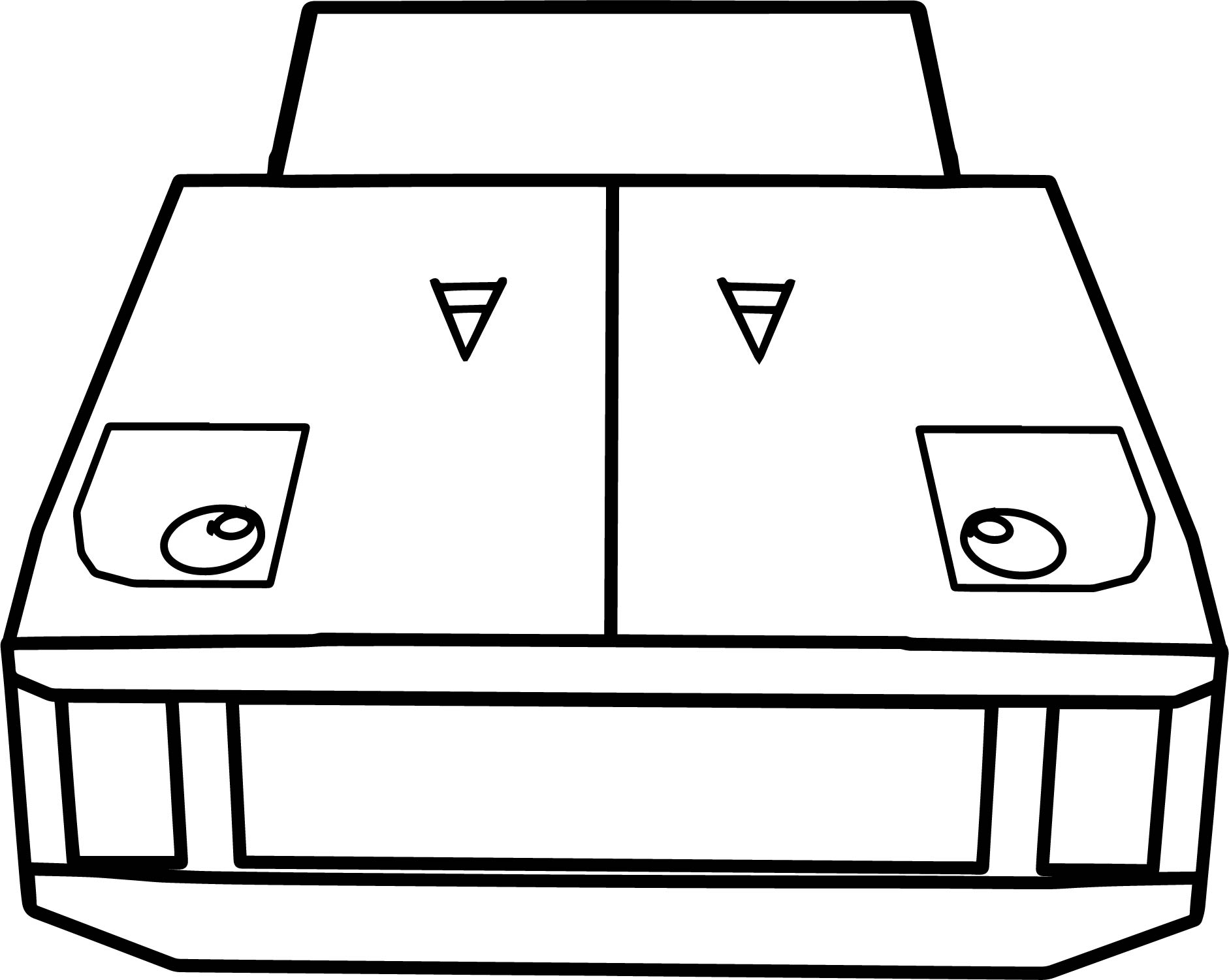 Front View Cartoon Ferrari F40 Coloring Page