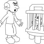 Gargamel Catched Smurf Picture Coloring Page