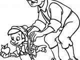 Gepetto Pinocchio Apple Coloring Page