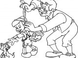 Gepetto Pinocchio Figaro Playing Coloring Page